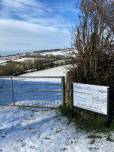 Dusting of snow at East Liscombe Farm Dulverton TA229RZ